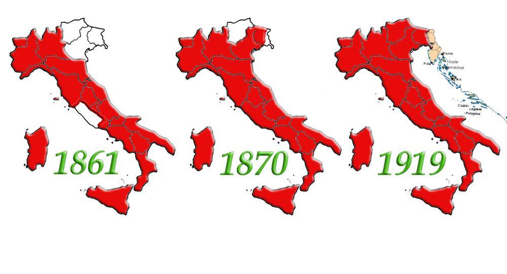Evoluzione dell'Unità d'Italia dalla proclamazione del Regno alla Conferenza di Parigi dopo la Prima Guerra Mondiale