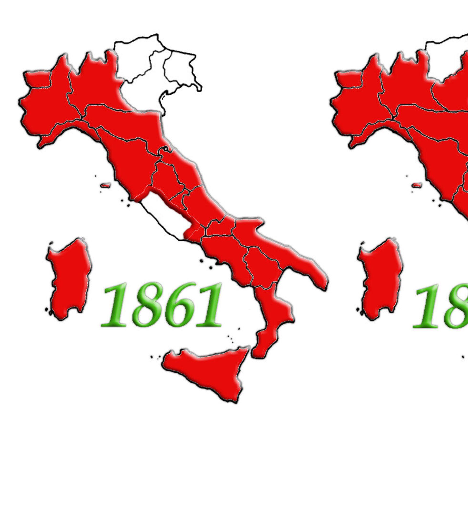 Cartina Italia 1810.Evoluzione Italia