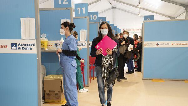 Centro vaccini di Fiumicino - Sputnik Italia