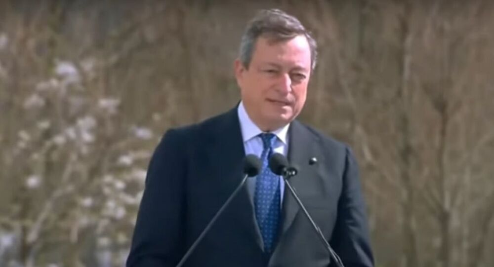 Mario Draghi è a Bergamo in occasione della Giornata nazionale in memoria delle vittime dell'epidemia di Coronavirus