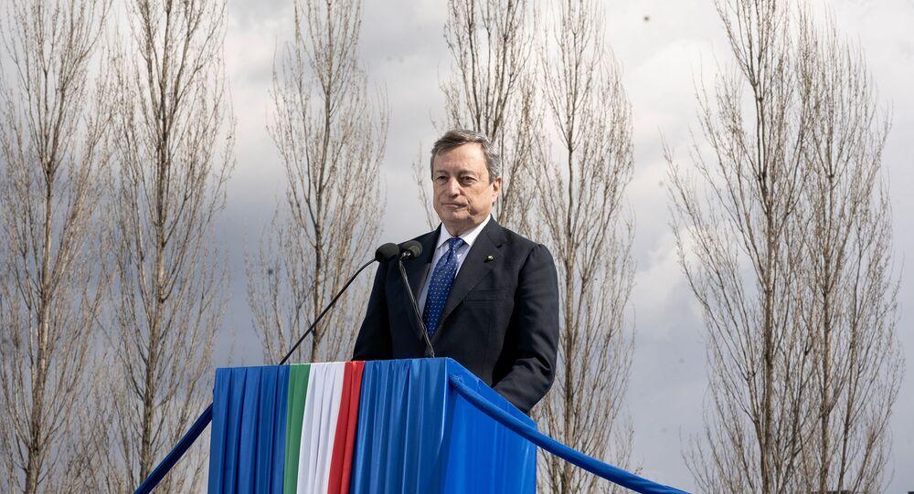 Il Presidente Draghi alla cerimonia d'inaugurazione del Bosco della Memoria