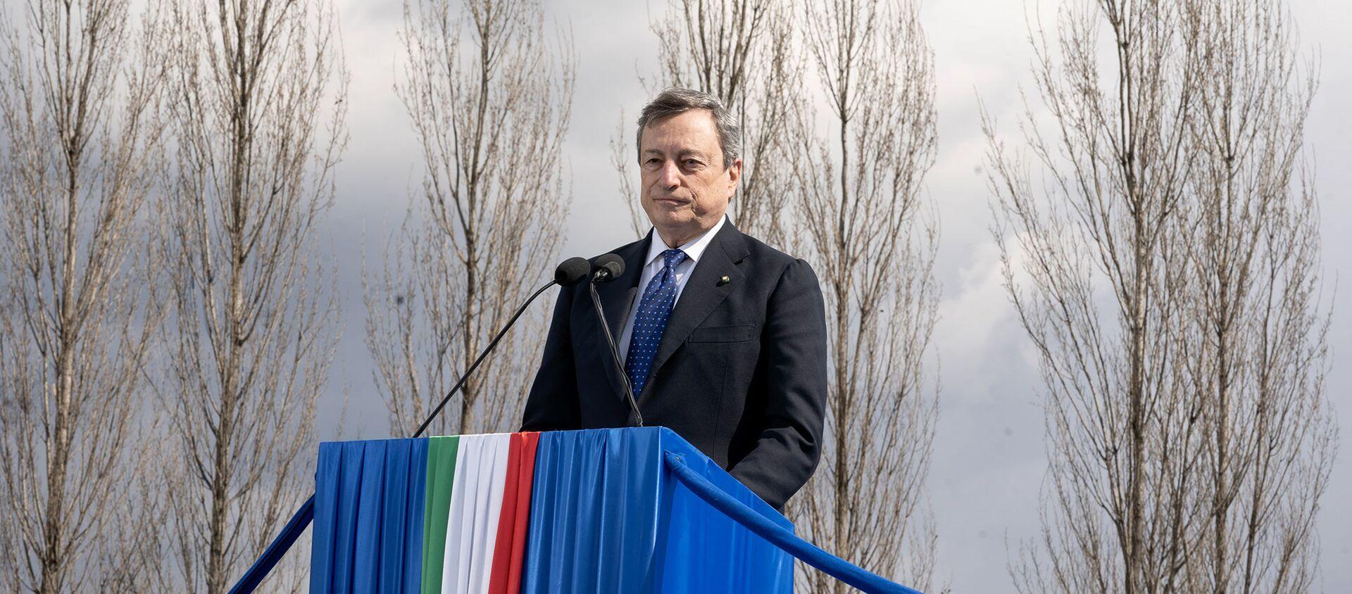 Il Presidente Draghi alla cerimonia d'inaugurazione del Bosco della Memoria - Sputnik Italia, 1920, 18.03.2021