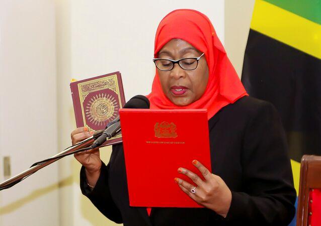 Presidente della Tanzania Samia Suluhu Hassan