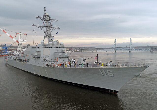 Cacciatorpediniere USS Thomas Hudner (foto d'archivio)