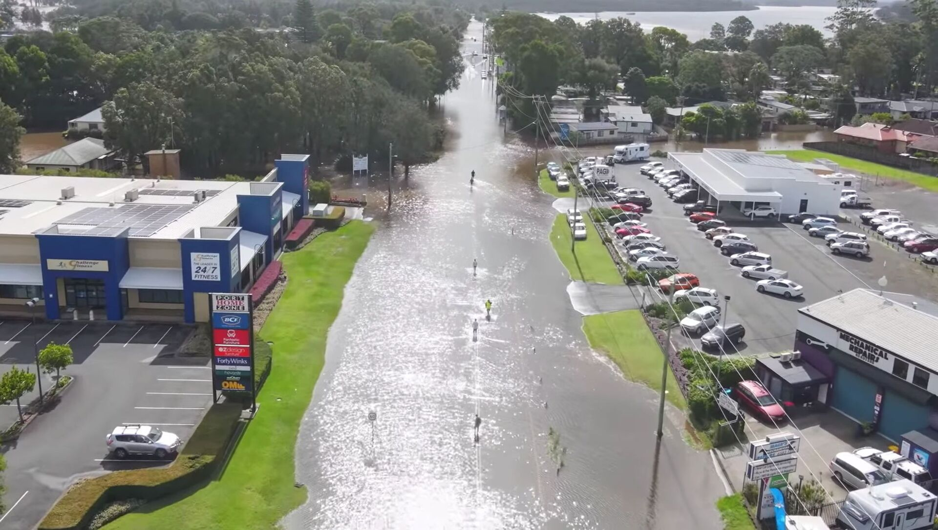 A still image taken from video shows a flooded area following heavy rains in Port Macquarie, New South Wales, Australia March 20, 2021 - Sputnik Italia, 1920, 21.03.2021
