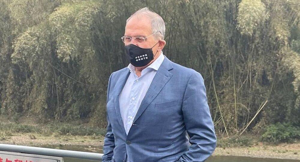 Il ministro degli Esteri russo Sergei Lavrov in Cina