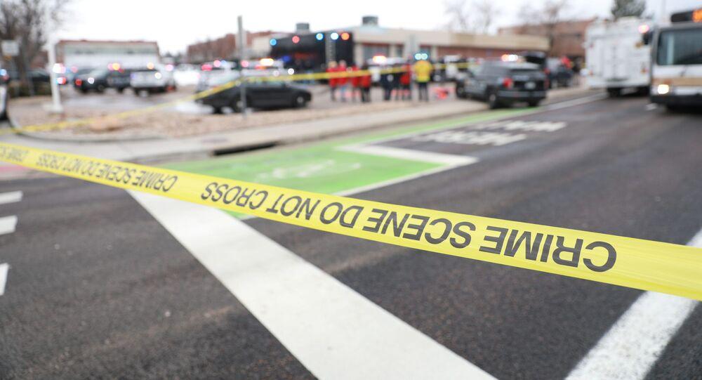 La scena del crimine a Boulder, Colorado