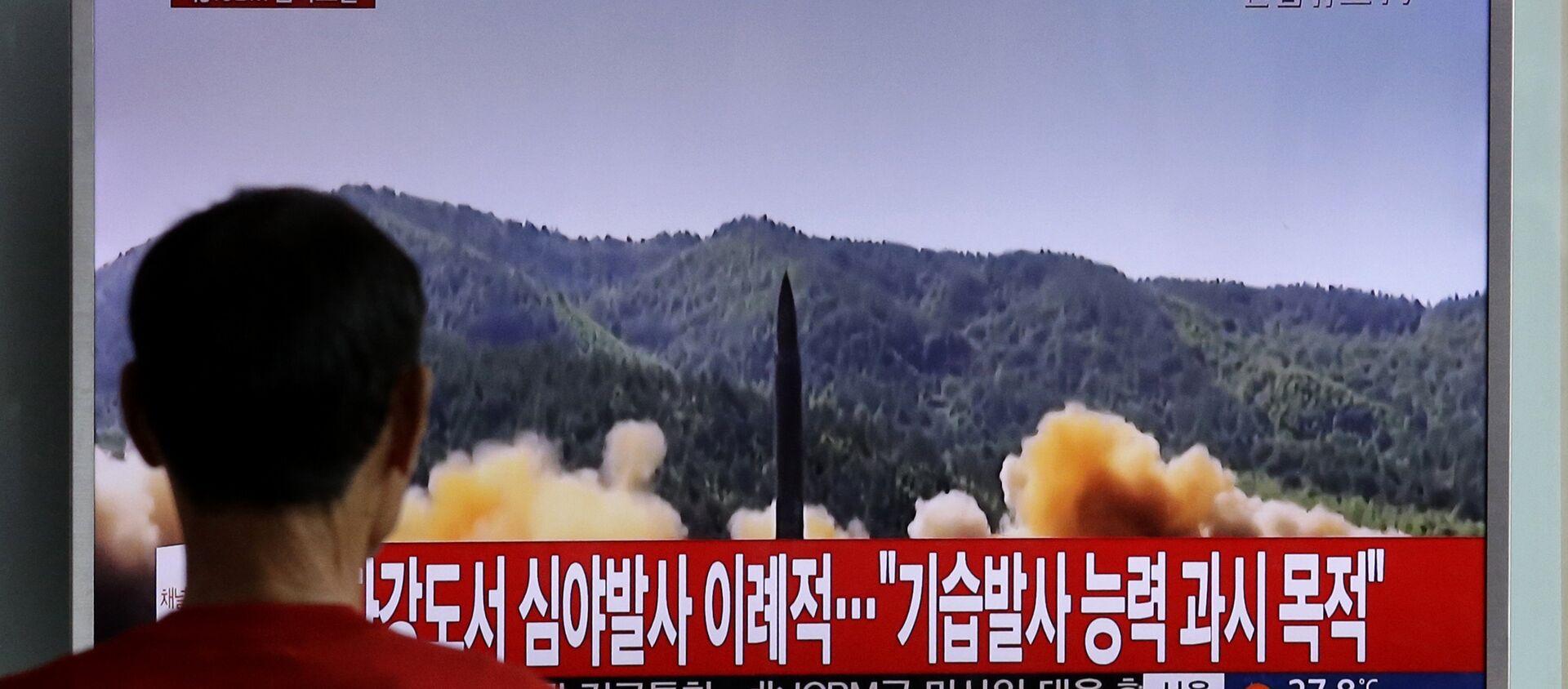 Un test per il lancio di missili in Corea del Nord - Sputnik Italia, 1920, 02.05.2021