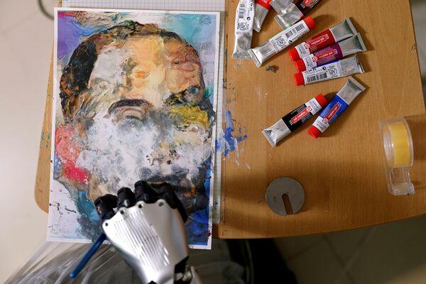 Uno dei dipinti del robot Sophia - Sputnik Italia
