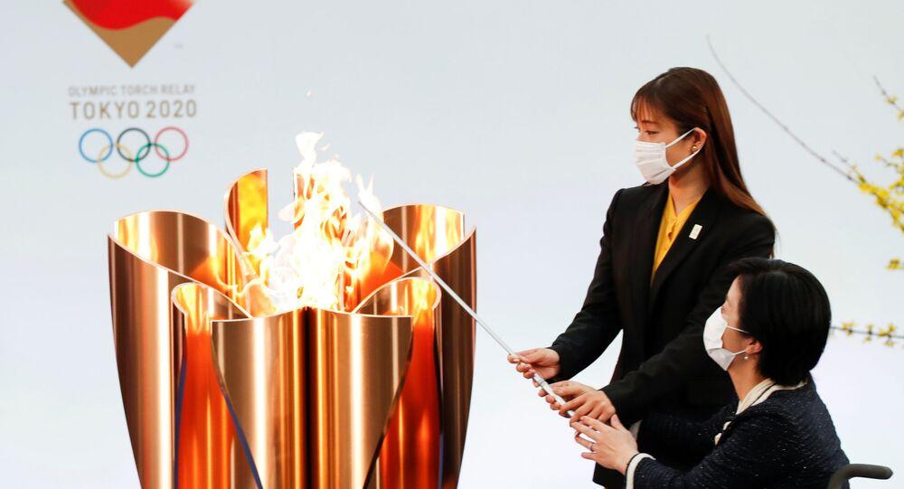 La torcia olimpica di Tokyo 2020