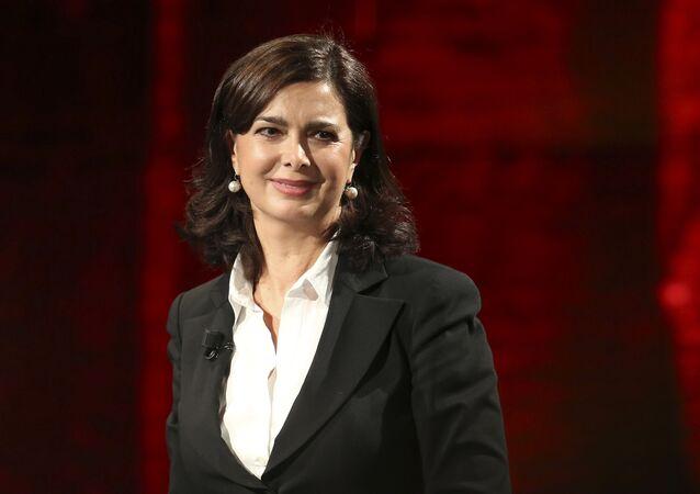 Laura Boldrini, politica italiana, già funzionaria internazionale delle Nazioni Unite e Presidente della Camera dei deputati