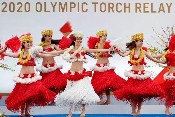 La performance dei ballerini durante il rinvio delle Olimpiadi di Tokyo 2020 - Sputnik Italia