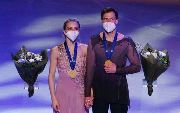Pattinaggio artistico, danzatori russi Sinitsina-Katsalapov vincono l'oro ai campionati del mondo - Sputnik Italia