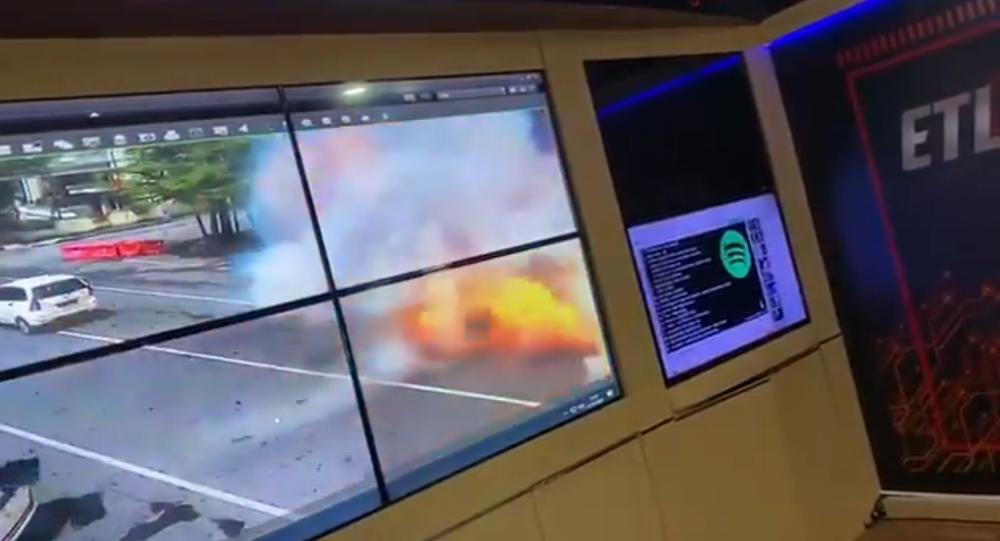 Foto esplosione Chiesa cattolica indonesiana a Makassar, Sulawesi Meridionale