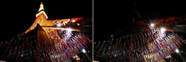 Le foto della Tokyo Tower a luci spente (prima e dopo) per l'Ora della Terra, l'evento annuale organizzato dal WWF - Sputnik Italia