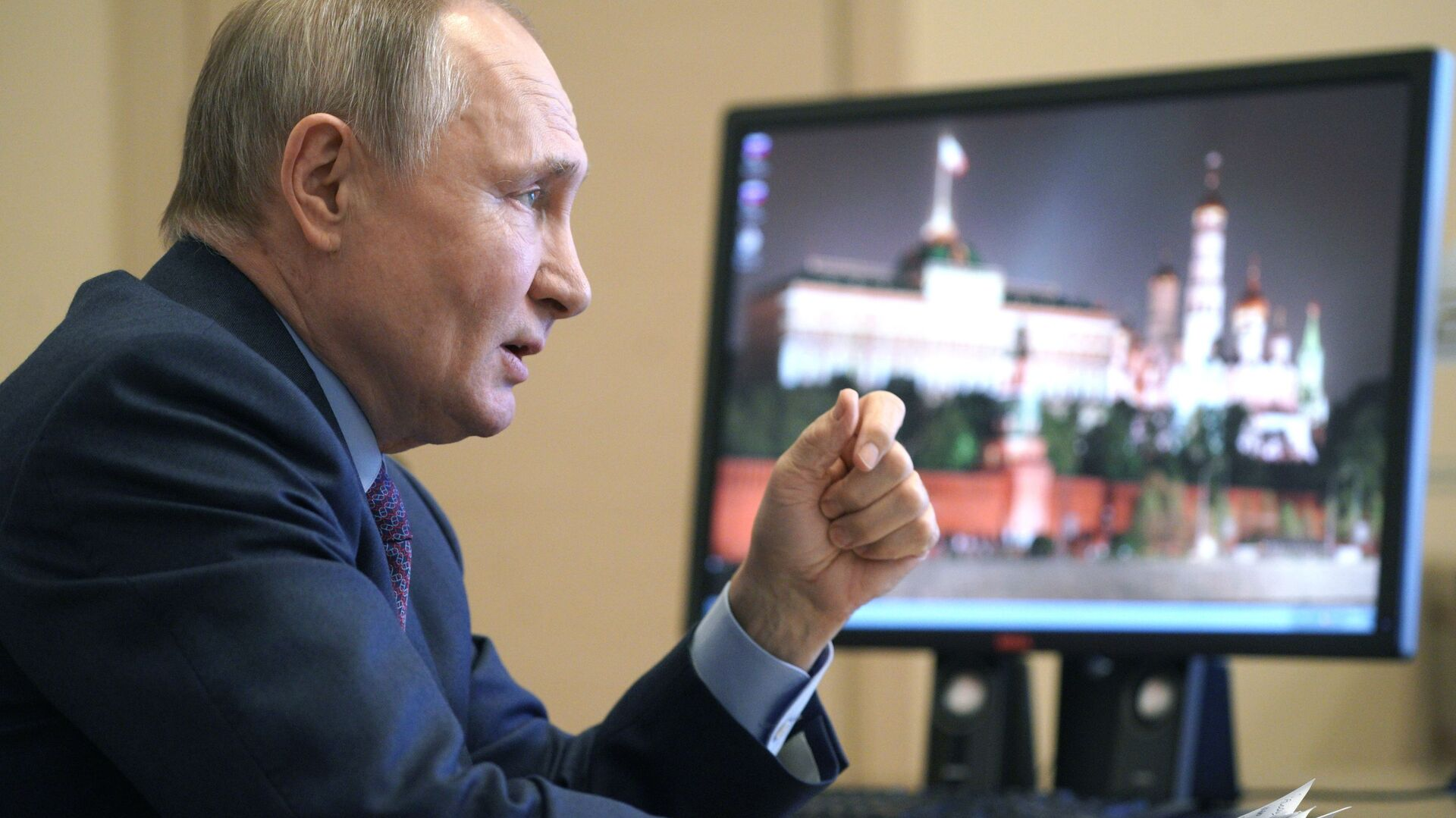 Russian President Vladimir Putin speaking to vaccine producers. March 22, 2021. - Sputnik Italia, 1920, 28.03.2021