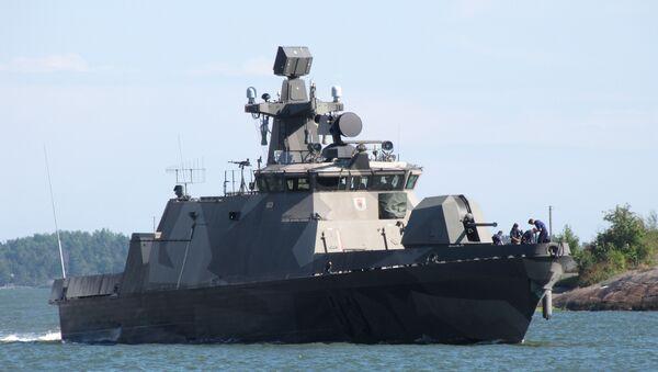 Motocannoniera missilistica finlandese Pori (83), quarta nave della classe Hamina, nel porto meridionale di Helsinki. - Sputnik Italia