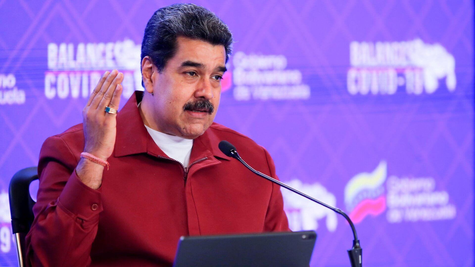 Venezuela's President Nicolas Maduro gives a speech in Caracas, Venezuela March 3, 2021. - Sputnik Italia, 1920, 14.08.2021