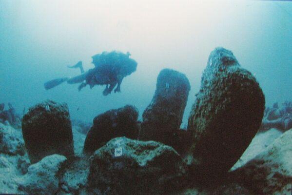 Atlit Yam, un antico villaggio neolitico sommerso al largo della costa di Atlit , in Israele  - Sputnik Italia