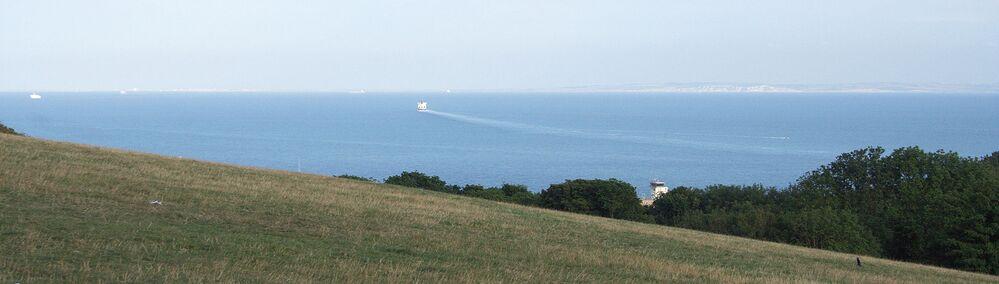 Le bianche scogliere di Dover, una parte del storico posto Doggerland, la terra che, migliaia di anni fa, univa l'Inghilterra alla Germania e alla Danimarca