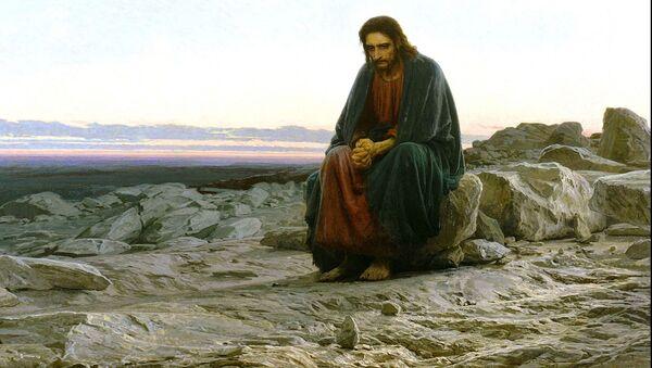 "Dipinto di Ivan N.Kramskoij ""La Tentazione Di Gesù Cristo Nel Deserto"" 1872-74 ca - Mosca, Galleria Tretjakov - Sputnik Italia"
