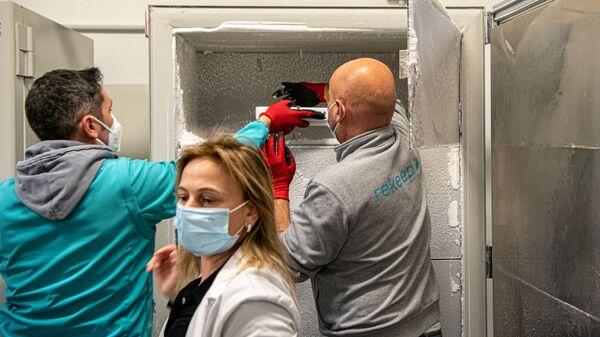 Consegna Vaccini Pfizer all'Ospedale Santa Maria della Pietà a Roma - Sputnik Italia