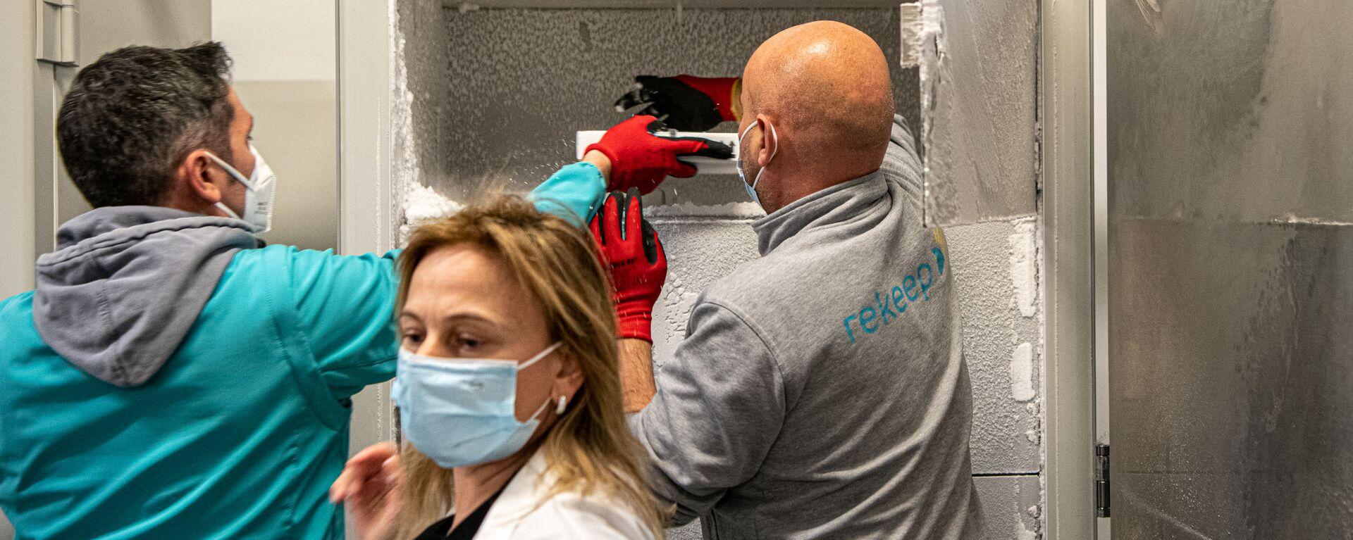 Consegna Vaccini Pfizer all'Ospedale Santa Maria della Pietà a Roma - Sputnik Italia, 1920, 24.06.2021