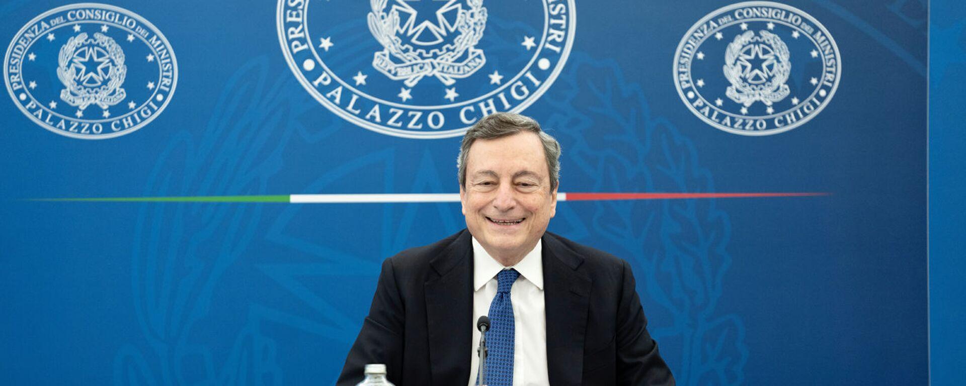 Il premier Mario Draghi - Sputnik Italia, 1920, 31.03.2021