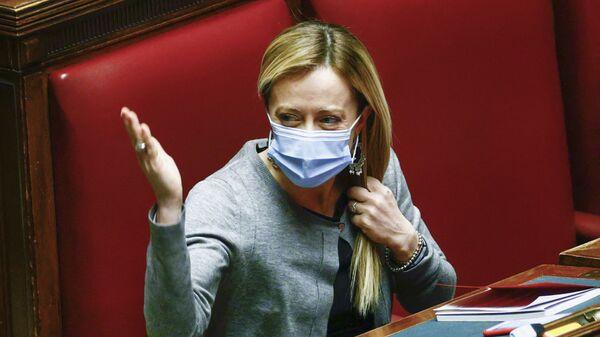 Leader del partito Fratelli d'Italia Giorgia Meloni - Sputnik Italia