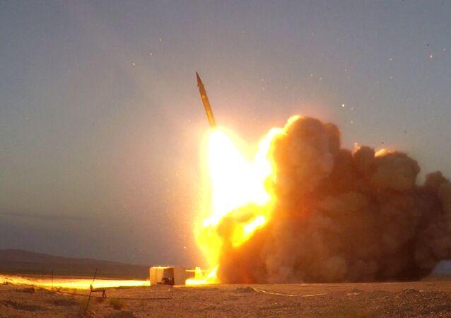 Lancio missile in Iran (foto d'archivio)
