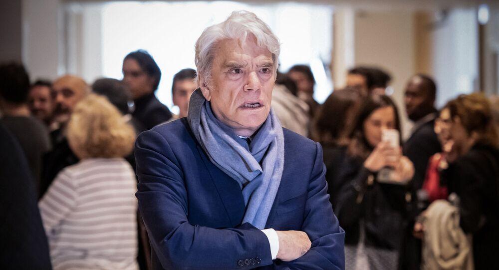 L'uomo d'affari francese Bernard Tapie, 4 aprile 2019, durante la sospensione del suo processo per aver aver defraudato lo stato francese in seguito a un risarcimento legato a una battaglia legale del 2008