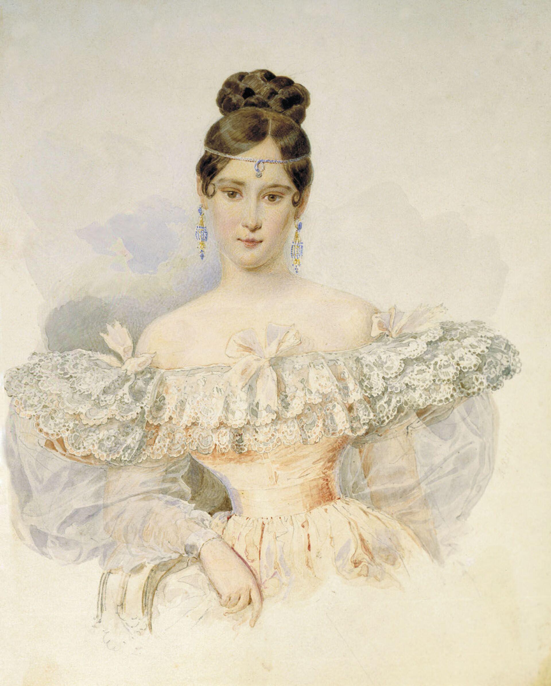 La moglie di Alexander Pushkin Natalia Goncharova, considerata una delle prime bellezze di San Pietroburgo - Sputnik Italia, 1920, 18.05.2021