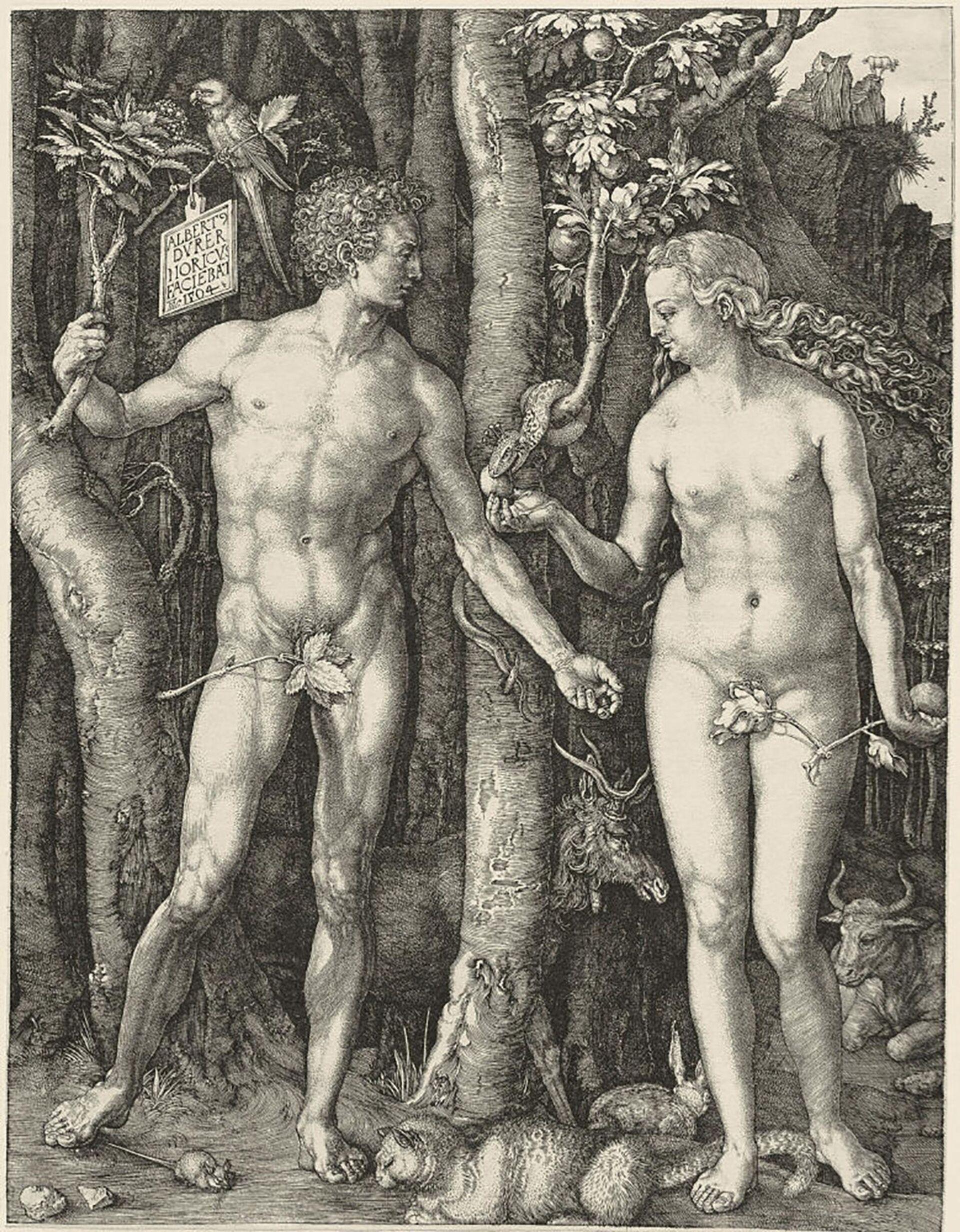 Peccato originale, un'incisione di Albrecht Dürer, firmata e datata 1504 - Sputnik Italia, 1920, 18.05.2021