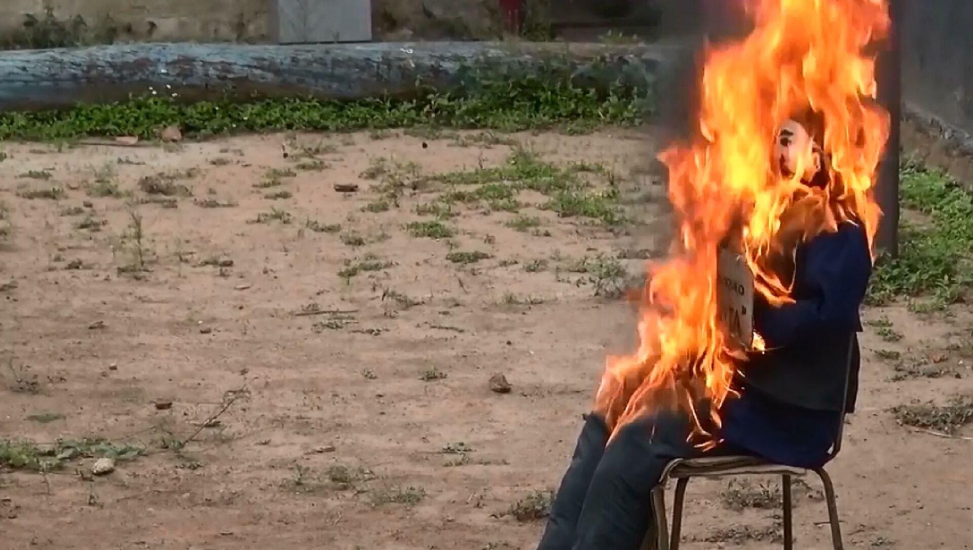 Venezuela: bruciato Giuda-Covid nell'ambito della tradizione Pasquale  - Sputnik Italia, 1920, 06.04.2021
