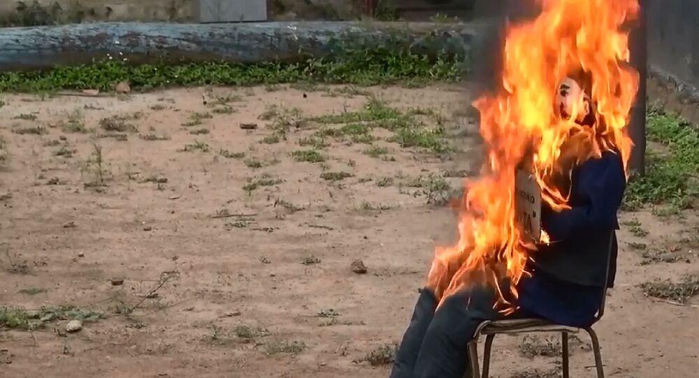 Venezuela: bruciato Giuda-Covid nell'ambito della tradizione Pasquale