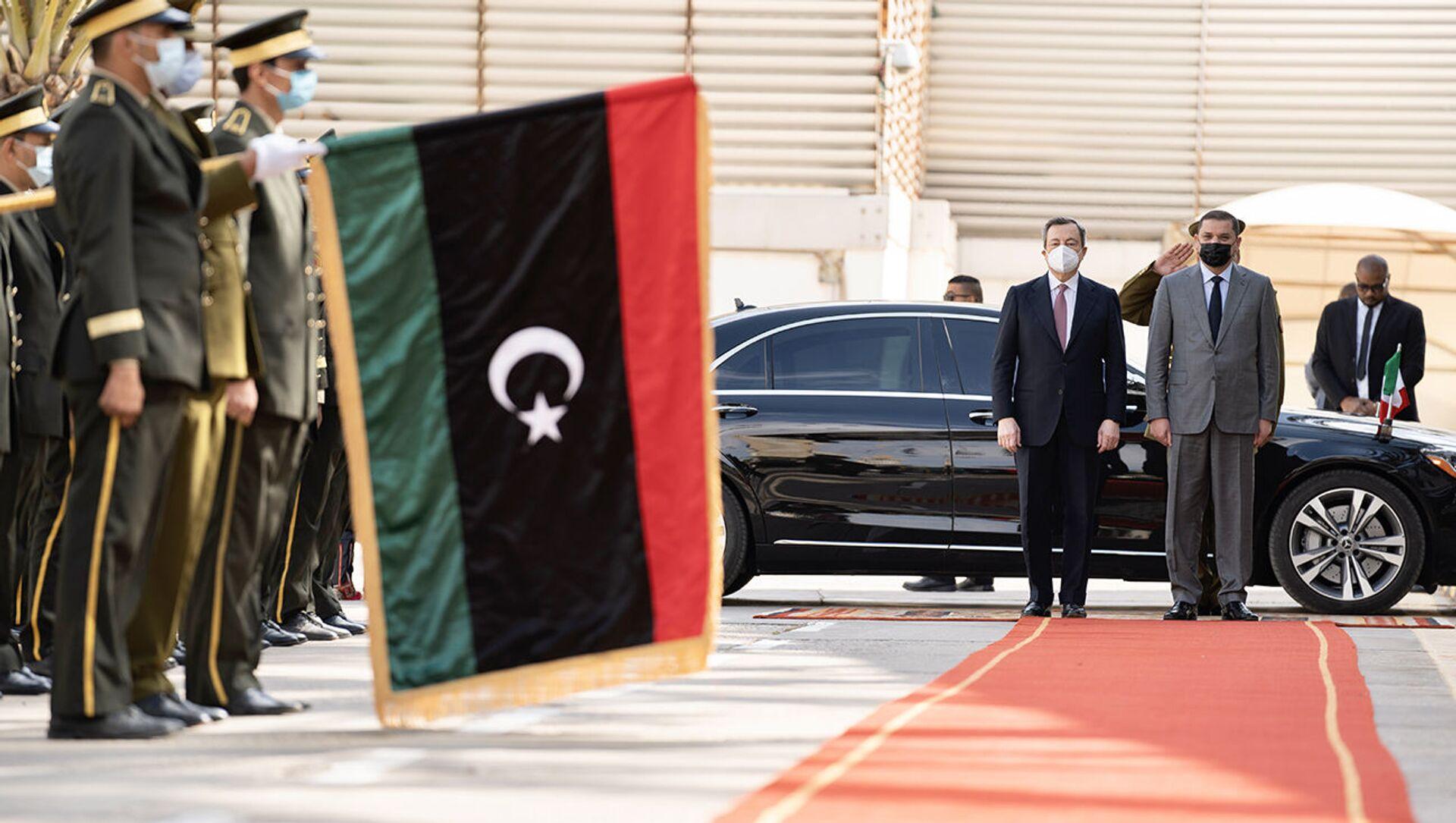 Il Presidente del Consiglio, Mario Draghi, è ricevuto dal Primo Ministro Abdelhamid Dabaiba - Sputnik Italia, 1920, 18.05.2021