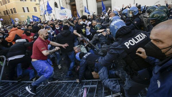 Manifestazioni a Roma, il 6 aprile del 2021 - Sputnik Italia