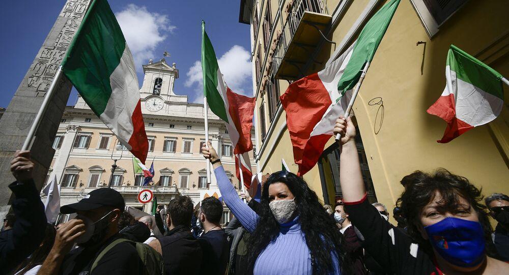 Manifestazione dei ristoratori a Roma, il 7 aprile