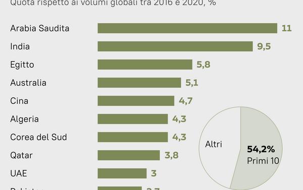 Primi 10 paesi importatori di armamenti al mondo - Sputnik Italia