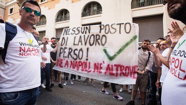 Presidio lavoratori Whirlpool Napoli - Sputnik Italia