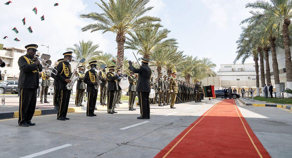 L'accoglienza a Mario Draghi in Libia