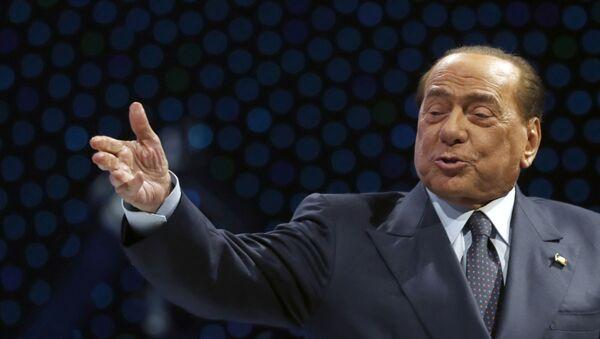Экс-премьер Италии Сильвио Берлускони во время выступления в Загребе, Хорватия - Sputnik Italia