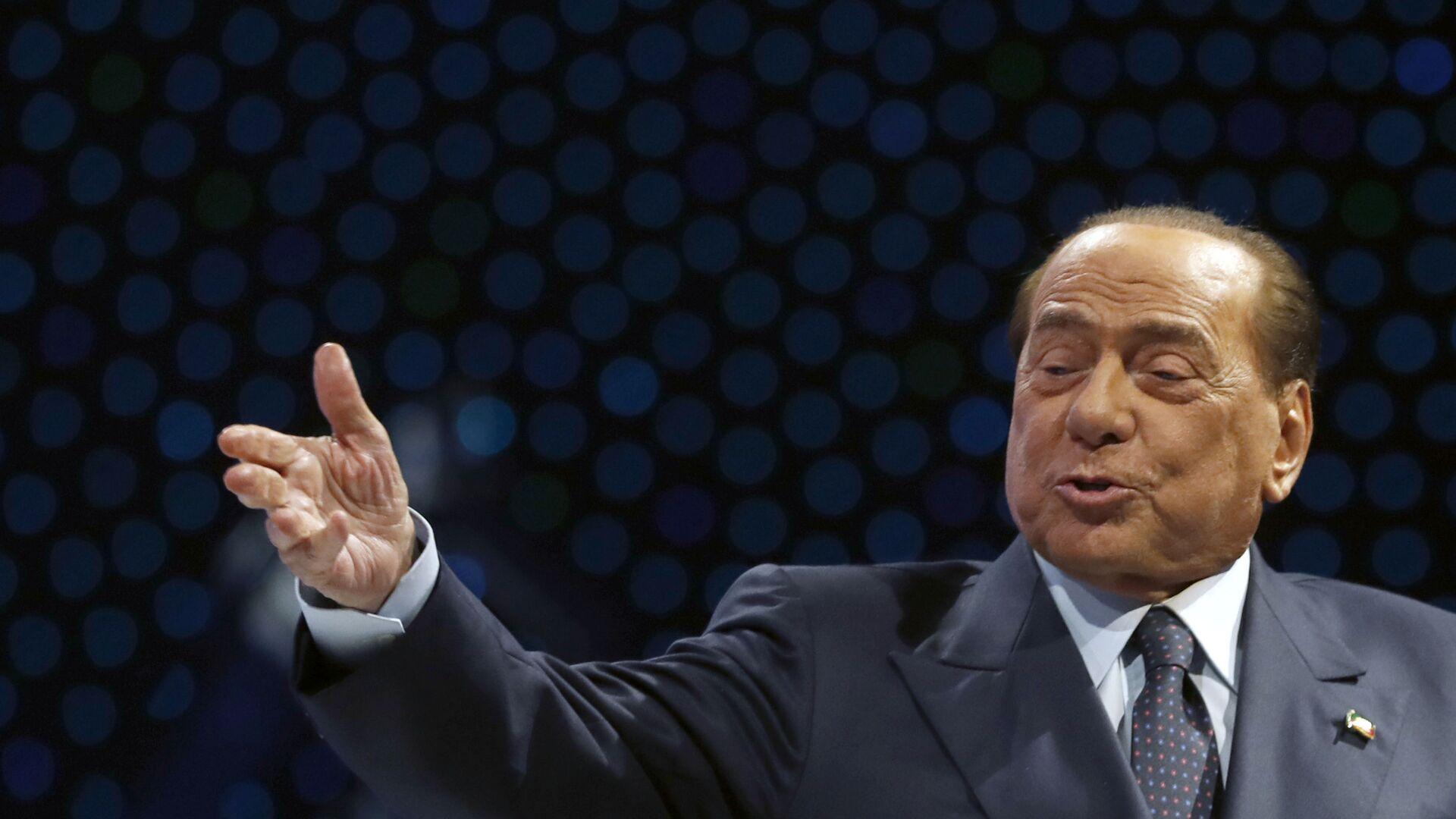 Экс-премьер Италии Сильвио Берлускони во время выступления в Загребе, Хорватия - Sputnik Italia, 1920, 05.09.2021