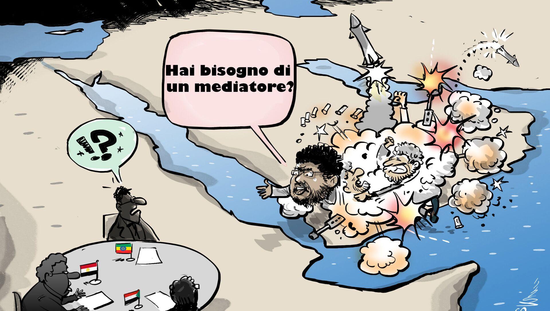 Venerdì il leader degli houthi Mohammed Ali al-Houthi ha offerto la sua mediazione tra Etiopia, Sudan ed Egitto sul progetto della Grande Diga - Sputnik Italia, 1920, 09.04.2021