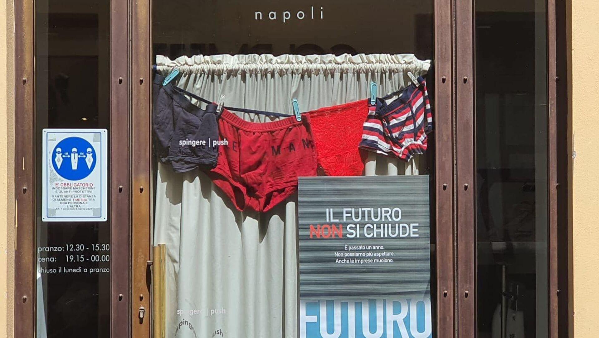 Protesta dei commercianti: Il futuro non si chiude - Sputnik Italia, 1920, 10.04.2021