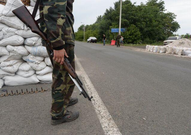 Posto di blocco nella regione di Donetsk (foto d'archivio)