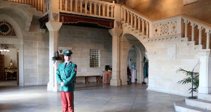 Dentro del Palazzo Pubblico della Repubblica di San Marino