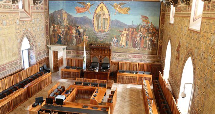 La sala del Consiglio Grande e Generale