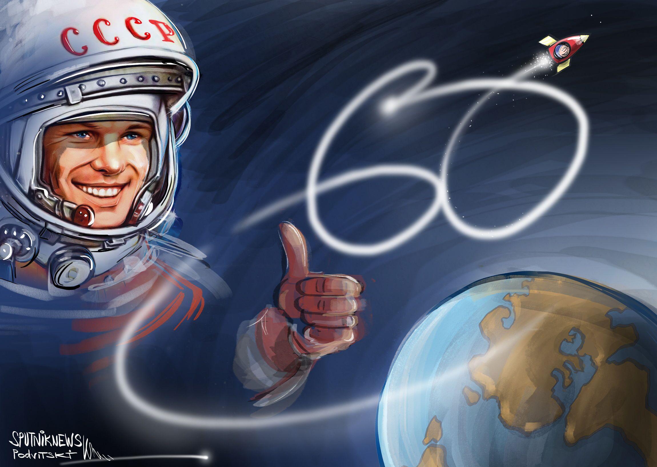 Yuri Gagarin, 60 anni fa il primo uomo nello spazio