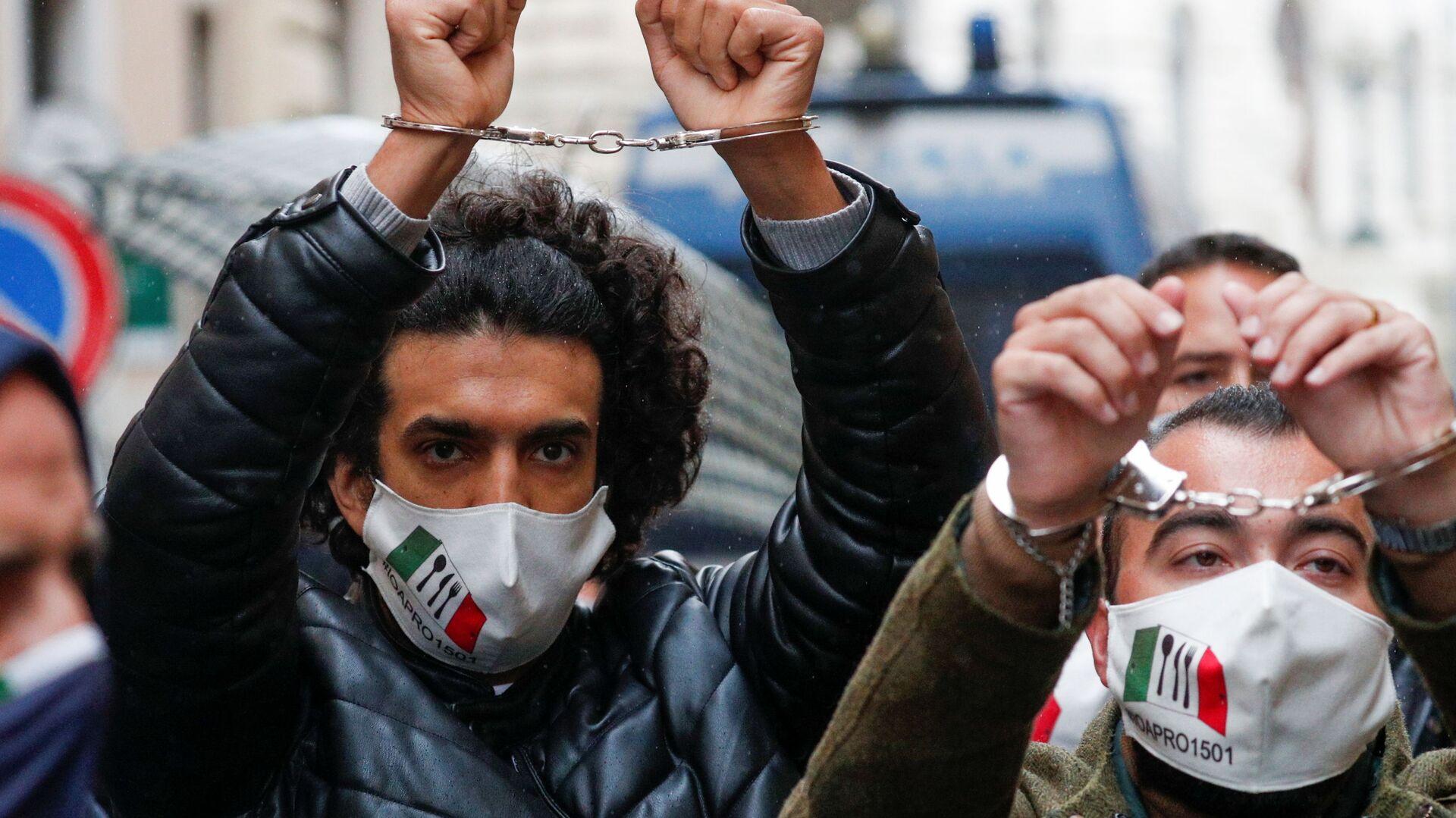 IoApro, la manifestazione non autorizzata a Roma - Sputnik Italia, 1920, 26.07.2021